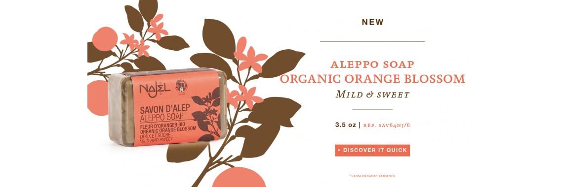 Najel Orange Blossom Aleppo Soap