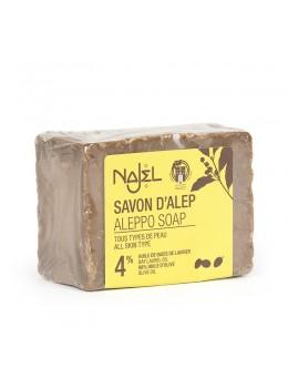 法國品牌 Najel 4%月桂油 阿勒頗手工古皂 Aleppo Soap 155g