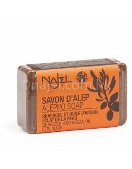 法國品牌 Najel 摩洛哥堅果油及火岩泥 手工皂 Aleppo Soap with Ghassoul and Argan Oil